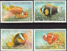Papua New Guinea 1987 Fish Anemonefish Set Fine Mint SG 539/42 Scott 659/62 Other European and British Commonwealth Stamps HERE!