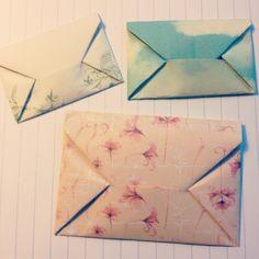 The last days of Spring: DIY: Origami envelope