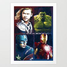 Avengers Art Print by Thubakabra