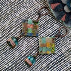 Earrings handmade paper jewelry FREE by scrappuccinostudio on Etsy, $30.00