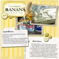 not so much the recipe, I like the layout of the recipe card