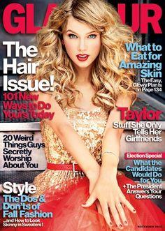 Taylor Swift en la portada de la edición de noviembre de Glamour (Fotos+Video)