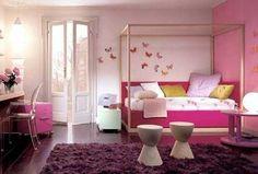 Dormitorio para adolescente en rosa y malva | Dormitorio - Decora ...