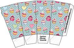 Caixa Pipoca Cupcakes: