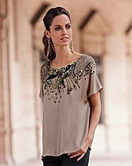Together Bead Trim Blouse