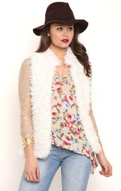 Deb Shops Faux Fur Vest $28.00