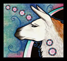 Llama as Totem by Ravenari on @DeviantArt