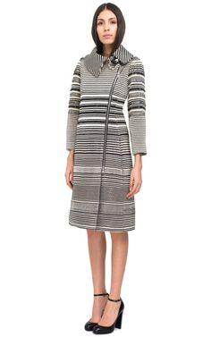 Hand-Woven Striped Coat by Bouchra Jarrar - Moda Operandi