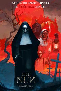 """Horror Movie Poster Art : """"The Nun"""" by Markbizkit @ deviantart Horror Icons, Horror Movie Posters, Movie Poster Art, Cinema Posters, Gothic Horror, Arte Horror, Best Horror Movies, Scary Movies, The Conjuring Annabelle"""