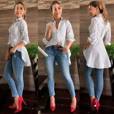 ideas womens fashion chic ideas shirts for 2019 Look Fashion, Diy Fashion, Fashion Dresses, Womens Fashion, Fashion Moda, Petite Fashion, Korean Fashion, Fashion Online, Winter Fashion