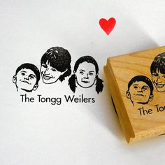 Custom gifts for mom: Personalized family stamp from lili mandrill at etsy