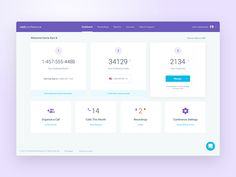 Conference Calling - New Dashboard by Balkan Brothers #Design Popular #Dribbble #shots