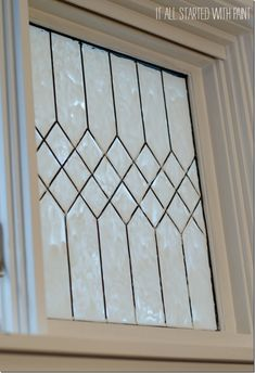 How To Create A Quot Leaded Quot Glass Look On Your Windows