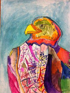 Drip, Drip, Splatter Splash: Eagle Art grade 4