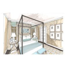 Sketchbook   Michael Hampton Design   Interior Design Sketches Washington DC