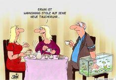Uli Stein — Cartoons & Fotografie | CARTOONS - ulistein.de Comedy, Funny Pictures, German, Lol, School, Illustration, Fictional Characters, Funny Cartoons, Cartoon Movies