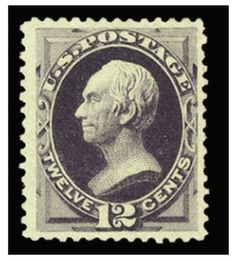 1880 12c blackish purple, unused without gum as issued, wide margins, beautiful color, approximately 60 certified examples exist, nearly a third of which have defects, with 1994 and 2008 PFCs --- $10,000.00   2013year