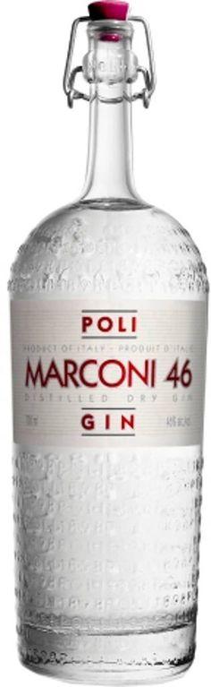 Gin von Marconi in der 0,7l Flasche mit 46% Vol. Alc.