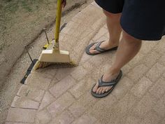 How to install a brick patio