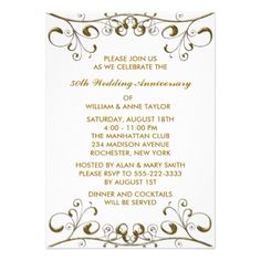Double 50th anniversary formal invitation two special couples 50th wedding anniversary invitations template wedding champaine all decorated clip arts country wedding favors mormo stopboris Choice Image