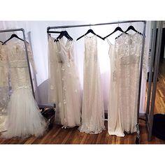 Wedding Dresses from Samantha Sleeper at the New York Bridal Market.