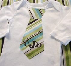 Hey, I found this really awesome Etsy listing at https://www.etsy.com/listing/67851525/tie-onesie-monogrammed-blue-green-and