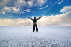 Man on ice Royalty Free Stock Photo - $14