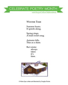 Winter Time. Celebrate Poetry Month with HarperCollins Children's Books!