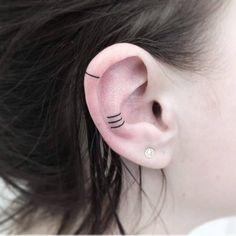Small Ear Tattoo Ideas: Helix Tattoos