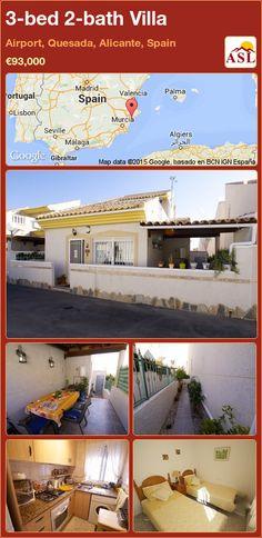 3-bed 2-bath Villa in Airport, Quesada, Alicante, Spain ►€93,000 #PropertyForSaleInSpain