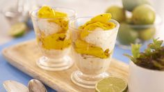 Ivan's Coconut and Lime Ice Cream with Mango in Mint Syrup