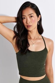 Seriously soft and stretch, Beyond Yoga's best-selling Spacedye Slim Racerback Cropped Tank is made from the brand's signature Spacedye fabric, has a built-in shelf bra for support and expertly wicks away moisture. Wear yours for your next mindful movement session. Pilates Clothes, Sports Luxe, Crop Tank, Sport Fashion, Yoga, Fashion Forward, Women Wear, Xl, Workout
