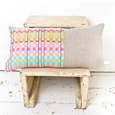 Hand Woven Cushion - Southworld Stripe