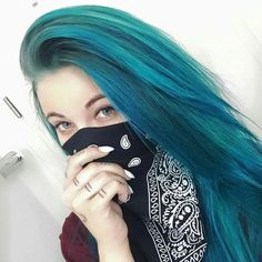 #Blue Color Hair