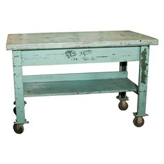 Another great kitchen island...love it with a nice marble top to roll out cookies :0)