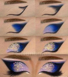 Eye Makeup Steps, Makeup Eye Looks, Eye Makeup Art, Dark Makeup, Crazy Makeup, Eyeshadow Makeup, Eyeshadows, Eye Makeup Pictures, Professionelles Make Up