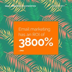 Email marketing has an ROI of 3800%. – DMA #ifactory #ifactorydigital  #emailmarketing #digitalmarketing #digital #edm #marketing #statistics  #email #emails