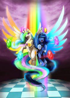 princess celestia and luna My Little Pony Cartoon, My Little Pony Drawing, My Little Pony Pictures, Princesa Celestia, Celestia And Luna, My Little Pony Princess, My Little Pony Twilight, Elissa, Princess Twilight Sparkle