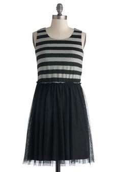 Wednesday Matinee Dress, #ModCloth I love pretty dresses like this one, that could double as gothic or a little edgy. Paired with nice tights and combat boots, I'd feel pretty much like a superhero!