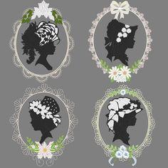 victorian embroidery designs | VICTORIAN CAMEO -- 36 Designs Machine Embroidery Design Pack (AzEB)