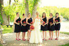 Pink and Orange Wedding #quacknuptials #bridesmaids
