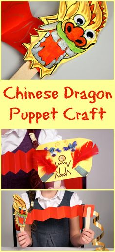 Create your own Chinese Dragon Puppets this Chinese New Year