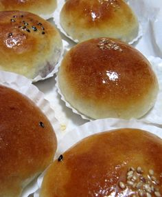 We got some of these at the Korean food sale at the church up near Albany.. Trace LOOOVED them!  Korean Red Bean Bread