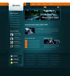 dark and blue  web design - #web #design