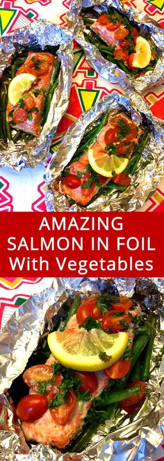What a great idea! Cooking salmon and vegetables together in a foil packet is genius! I love this healthy and easy dinner!
