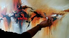 "Abstract painting / Demonstration of abstract painting ""Painted Rythm"" /..."