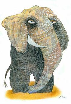 Elephant from Drawing Lab book   Carla Sonheim