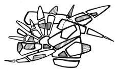 #2006 #abstractart #artabstrait #indianInk #encredechine #dessin #drawing #black #noir #marqueur #feutre #stylo #marker #pen #blackandwhite #futurist #mechanical #handdrawn #faitmain // 44-004