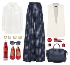 """""""*1151"""" by cutekawaiiandgoodlooking ❤ liked on Polyvore featuring Korres, Martin Grant, Givenchy, Chloé, Joseph, Essie, Maison Margiela, 7 For All Mankind and redwhiteandblue"""