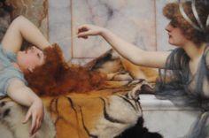 John William Godward / Mischief and Repose (detail)